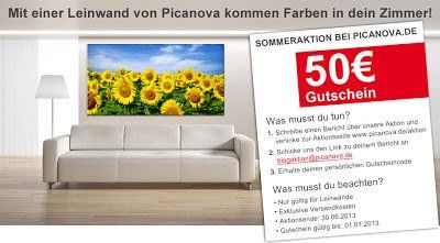 Picanova Aktion - der Sommer kommt auf Leinwand - Tanja's Everyday Blog