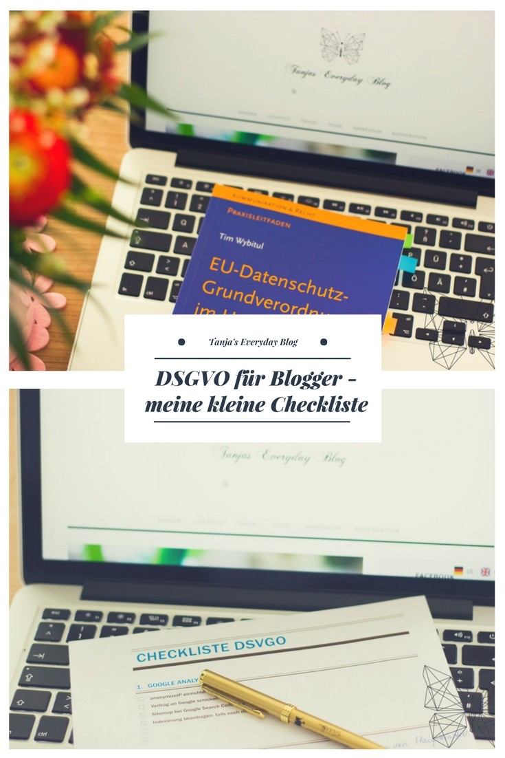 DSGVO Checkliste für Blogger Tanja's Everyday Blog