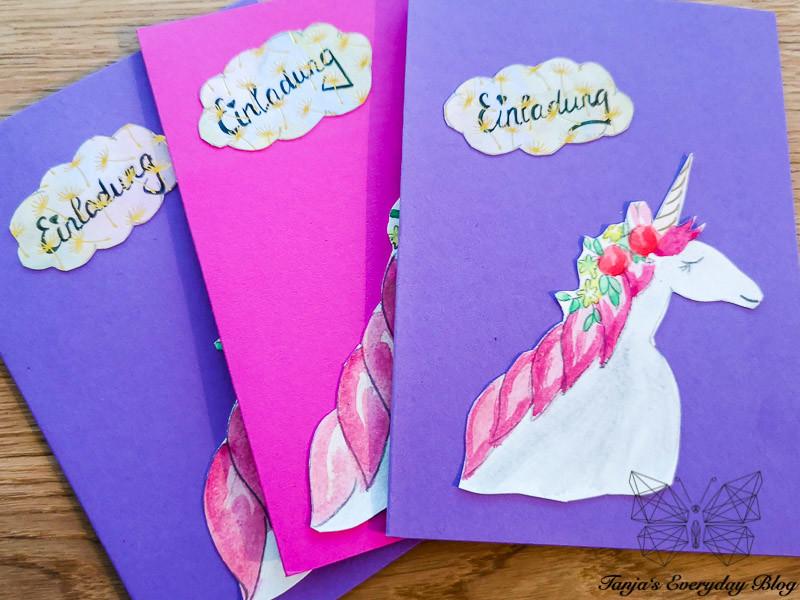 Kindergeburtstag Einladungskarten Einhorn