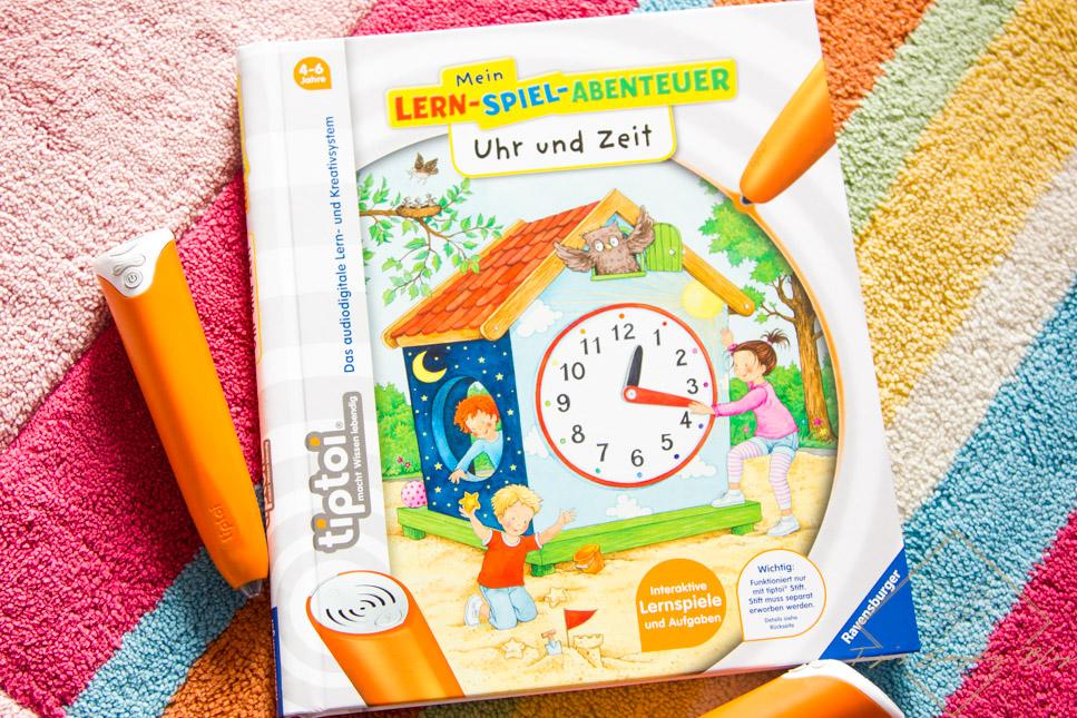 Tiptoi Uhr und Zeit Buch Rezension